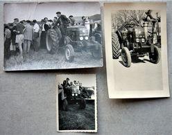 Lot Carte Photo & Photo Tracteur VIERZON - Tractores