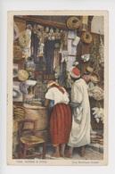Une Boutique Arabe (cp Vierge N°1060 Scènes Et Types) - Algérie