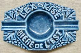 CENDRIER LEX-KISE BIERE DE L'EST ( EN FONTE EMAILLEE ) POIDS 326 GRAMMES - Ceniceros