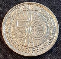Germany 50 Pfennig 1928 D - [ 3] 1918-1933 : Weimar Republic