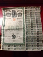 BANQUE De  LONDRES  Et  De  MEXICO  -------- Action  De  100 Piastres - Bank & Insurance