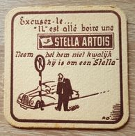 VIEUX  SOUS BOCKS BROUWERIJ ARTOIS LEUVEN STELLA ARTOIS + VERSO LEUVEN BIERFESTIVAL 1956 - Sous-bocks