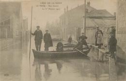 LE PECQ CRUE DE LA SEINE 1910  RUE CARNOT - Le Pecq
