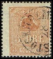 1862 - 1869. Lying Lion. 3 öre Bister Brown. (Michel 14) - JF362585 - Oblitérés