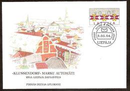 LATVIA●LETTLAND 1994●Stamps From Vending Machine●Automatenmarken 5xFDC●Mi ATM1 - Lettonie