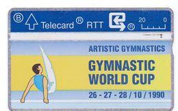 Telefoonkaart Telecard RTT - Gymnastic World Cup 1990 - Belgique