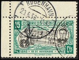 1950. DANMARK. KØBENHAVN N 29.6.50 On 15 Cts. BOLIVIA Music. () - JF362759 - Bolivia