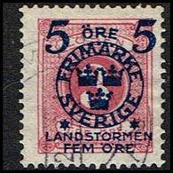 1916. Landstorm II. 5+Fem Öre On 3 Ö. Rose. (Michel 98) - JF362863 - Oblitérés