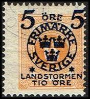 1916. Landstorm II. 5+Tio Öre On 6 Ö. Yellow.  (Michel 100) - JF362866 - Oblitérés