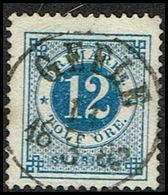 1877. Circle Type. Perf. 13. 12 øre Blue. LUXUS GEFLE 11 3 1882. (Michel 21B) - JF362889 - Oblitérés