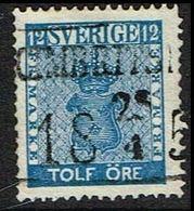 1858. Coat Of Arms 12 öre Blue. LUXUS CIMBRITSHAMN 25 4 185?. (Michel 9a) - JF362892 - Oblitérés