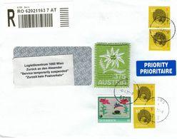 [A4] Covid Corona - Logistikzentrum Wien - Zurzeit Kein Postverkehr - Service Suspended - Edelweiss - Tutto Andrà Bene! - 2011-... Brieven