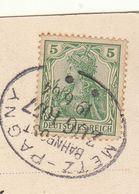 (CP) Imprimé Cad Gare De Metz Pagny 1904/ 5pf  -> Bondy (2 Scans) - 1877-1920: Semi-moderne Periode