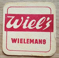 VIEUX  SOUS BOCKS BRASSERIE WIELEMANS BRUXELLES WIEL'S + VERSO EGAL - Sous-bocks