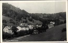 Cp Dolni Polubný Unter Polaun Region Reichenberg, Teilansicht Von Der Ortschaft - Eisenbahnen