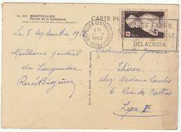 Croix Rouge 1952/CP Montpellier Centralisateur - Marcophilie (Lettres)