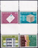 SCHWEIZ 1976 Mi-Nr. UPU 10/13 ** MNH - Dienstpost