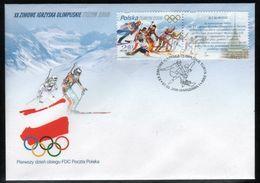 POLAND FDC 2006 WINTER OLYMPC GAMES TURIN ITALY OLYMPICS + LABEL  ATHLETES WINTER SPORTS SKIING - Winter 2006: Torino