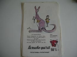 Serie De 10 Les Animaux Par Beuville  La Vache Qui Rit - Papel Secante