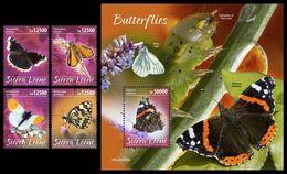SIERRA LEONE 2020 - Butterflies, 4v + S/S Official Issue [SRL200215] - Sierra Leone (1961-...)