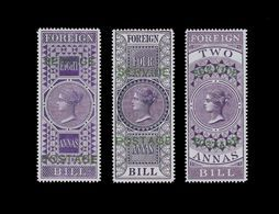 ***REPLICA*** Of India - 1866, 2a, 4a, 8a Violet, Official - Complete Stamps - India (...-1947)