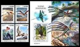 SIERRA LEONE 2020 - Flying Dinosaurs, 4v + S/S Official Issue [SRL200217] - Sierra Leone (1961-...)