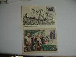 Lot 8 C M Carte Maximum 1948 ,51.52.53.54.55.56.57 Journee Du Timbre - Maximumkaarten