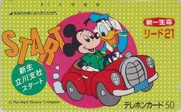 JAPAN  - TC JAPON / 110-24783 B - DISNEY - DONALD & MICKEY En Voiture Car ** Série LIDO 21 ** Phonecard - Disney