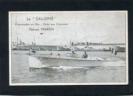 """CPA - Le """"SALOME"""" - Promenade En Mer - Visite Aux Cuirassés, Animé - Bateaux"""