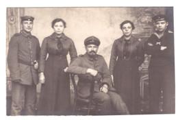 CARTE PHOTO DE FAMILLE SOLDATS ALLEMANDS - Militaria