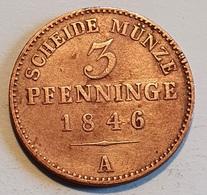 Prussia 3 Pfennig 1846 A - Taler & Doppeltaler
