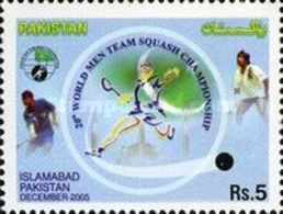 MNH STAMPS Pakistan - World Men Team Squash Championship, Islamabad - 2005 - Pakistan