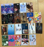 TÉLÉCARTES FRANCE LOT DE 22 CARTES - 2 Cartes Avec Pastilles - Lots - Collections