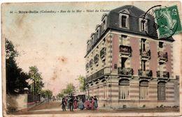 Ouistreham Riva-Bella 1908 - Hôtel Du Chalet N°44 - !!! Petite Déchirure Et Trace De Pli + Tâches - Ouistreham