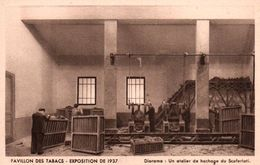 CPA - EXPO Coloniale Internationale 1937 - Pavillon Des TABACS - Atelier De Hachage Du SCAFERLATI ... - Tabaco