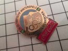 415a Pin's Pins / Rare & Belle Qualité !!! THEME : JEUX OLYMPIQUES / COCA-COLA GARMISCH PARTENKIRCHEN 1936 MERCI LE CIO - Olympic Games