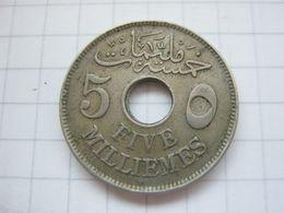 Egypt , 5 Milliemes 1917 H - Egypte