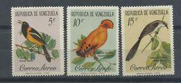 VENEZUELA  YVERT  AEREO  741/43   MNH  ** - Venezuela