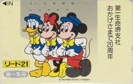 JAPAN  - TC JAPON / 110-106577 Teleca 1 - DISNEY - DONALD MICKEY MINNIE ** Série LIDO 21 ** Phonecard - Disney