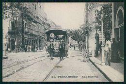 PERNAMBUCO - RECIFE - CARROS AMERICANOS - Rua Victoria. ( Ed. Messageries Maritimes Nº 174) Carte Postale - Recife