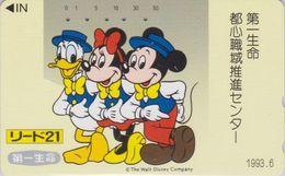 JAPAN  - TC JAPON / 110-106577 Teleca 2 - DISNEY - DONALD MICKEY MINNIE ** Série LIDO 21 ** RARE Phonecard - Disney