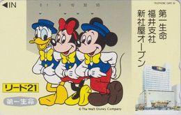 JAPAN  - TC JAPON / 110-107075 Teleca  - DISNEY - DONALD MICKEY MINNIE ** Série LIDO 21 ** Phonecard - Disney