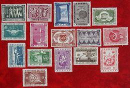 UN VN Luchtpost Airmail OBC N°1053-1062 PA 30-35 (Mi 1100-1109 1110-1115) 1958 POSTFRIS MNH ** BELGIE BELGIEN / BELGIUM - Unused Stamps