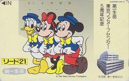JAPAN  - TC JAPON / 110-112390 Teleca  - DISNEY - DONALD MICKEY MINNIE ** Série LIDO 21 ** Phonecard - Disney