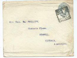 Great Britain Bradford 6  Squared Circle Prepaid Cover  To Australia Interesting Backstamp - Briefe U. Dokumente