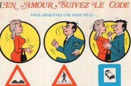 B69669 Cpm Humour - En Amour Suivez Le Code - Humour