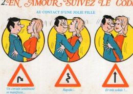 B69670 Cpm Humour - En Amour Suivez Le Code - Humour