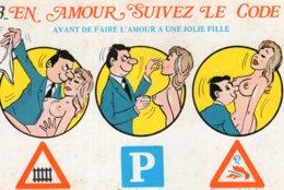B69671 Cpm Humour - En Amour Suivez Le Code - Humour