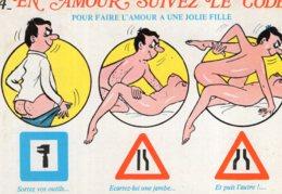 B69672 Cpm Humour - En Amour Suivez Le Code - Humour