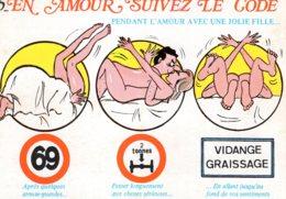 B69673 Cpm Humour - En Amour Suivez Le Code - Humour